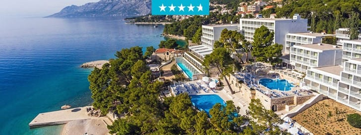 New 4+star hotel on a fabulous location in Brela